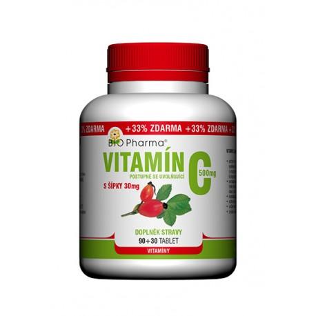 Vitamín C 500mg s šípky postupně se uvolňující 90+30tablet