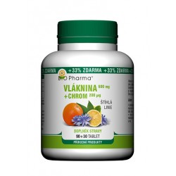 Vláknina 600mg Chrom 200µg 90+30 tablet