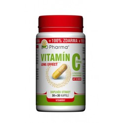 Vitamín C 500mg long effect 30+30 kapslí