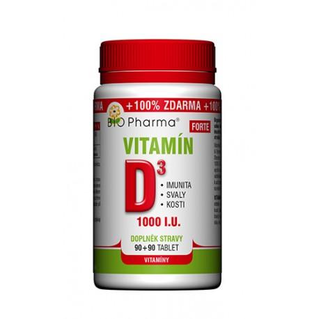 Vitamín D3 Forte 1000 I.U. 90+90 tablet