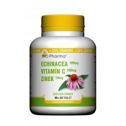 Echinacea 100mg Vitamín C  500mg Zinek 10mg 90+30 tablet
