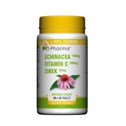 Echinacea 100mg Vitamín C 500mg Zinek 10mg 30+10 tablet