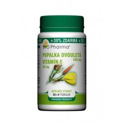 Pupalka dvouletá 500mg, Vitamín E 50mg 30+9 tobolek