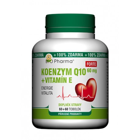 Koenzym Q10 Forte 60mg + Vitamín E 60+60 tobolek