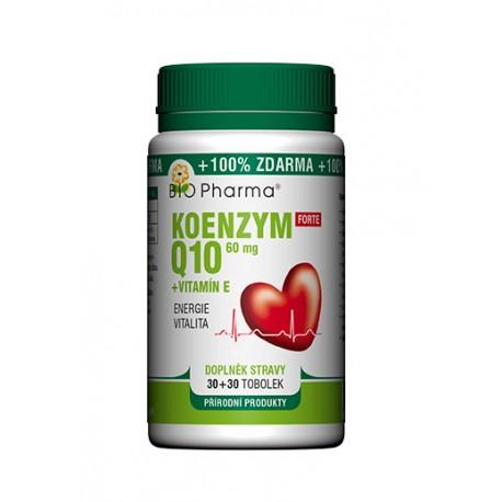 Koenzym Q10 Forte 60mg + Vitamín E 30+30 tobolek