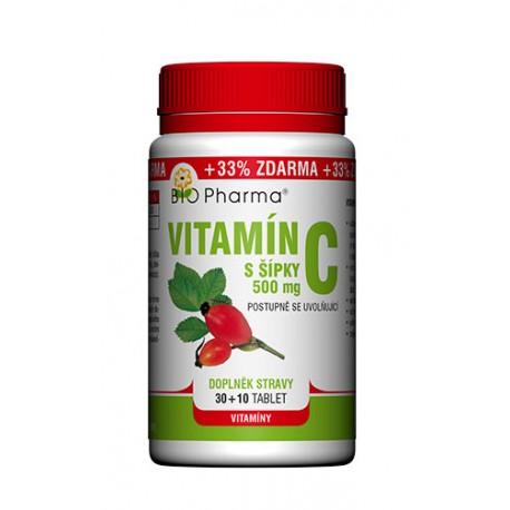 Vitamín C 500mg s šípky postupně se uvolňující 30+10 tablet