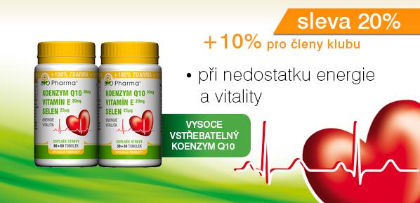 Koenzym Q10 30mg Vitamín E 20mg Selen 25µg