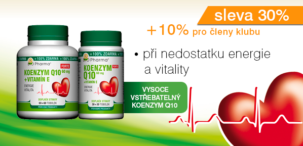 Koenzym Q10 Forte 60mg + Vitamín E