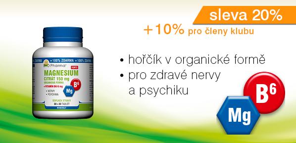 Magnesium citrát Forte 150 mg + Vitamín B6 6 mg 30+30 tablet