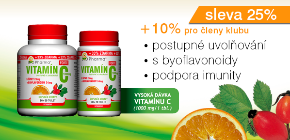 Vitamín C Forte 1000mg s šípky 25mg + bioflovonoidy 34mg T.R.