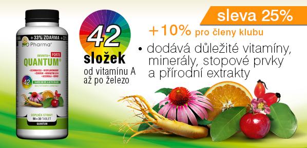 QUANTUM Imunita+ Forte 42 složek 90+30 tablet